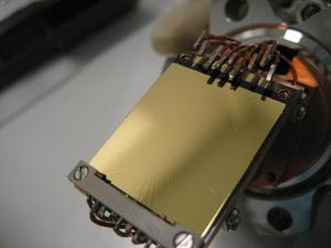 Atom chip on its mount